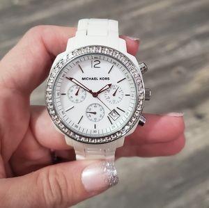 MICHAEL KORS Chronograph White Acrylic Watch